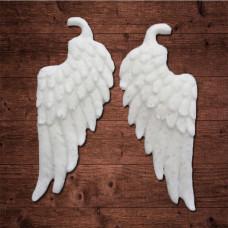 Декор из пластика,  крылья ангела, Размер каждого крыла 7х3см