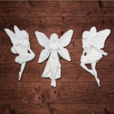 "Декор из пластика,  ""Три феи"", Размер каждой примерно 7х4 см."