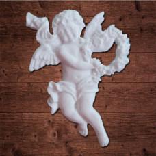 """Декор из пластика, """"Ангел с цветочным сердцем"""", Размер 4х5 см"""