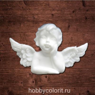 """Декор из пластика, """"Мечтательный ангел 1"""", Размер 5,0х3,1 см"""