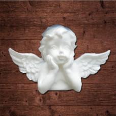 """Декор из пластика, """"Мечтательный ангел 3"""", Размер 5,0х3,4 см"""