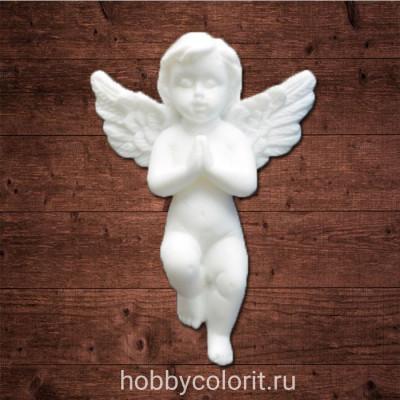 "Декор из пластика, ""Молящийся ангел 2"", Размер 3,3х4,8 см"