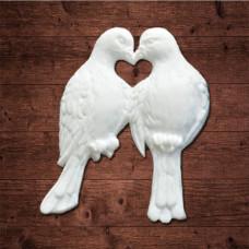 "декор из пластика, ""Два голубя"", Размер 4,5х5,6 см"