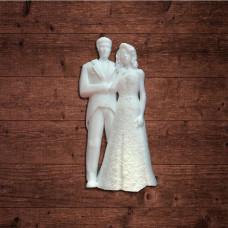 """Декор из пластика, """"Свадебная пара"""" малая, размер 23х46 мм"""