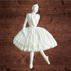 """Декор из пластика, """"Ретро-балерина"""", Размер 60х90мм"""