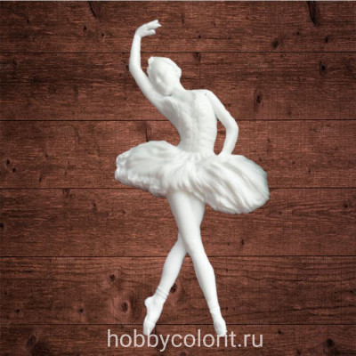 "Декор из пластика, ""Балерина 1"", Размер 50х95мм"