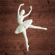 "Декор из пластика, ""Балерина 3"", Размер 65х100мм"