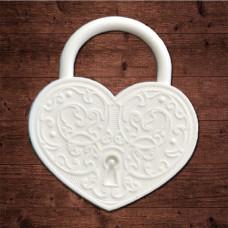 """декор из пластика, """"Замочек в форме сердца"""" большой, Размер 42х47мм"""
