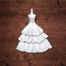 """Декор из пластика, """"Платье"""", Размер 25х70 мм"""