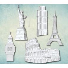 """Декор из пластика, набор """"Путешествия"""", Размер готового изделия """"Статуя свободы"""" 21х44 мм"""