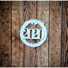 """Венок 2020 - 2"" (M), Размер 70х70 мм."