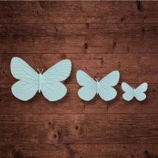 "Набор из трех бабочек, ""Бабочка 2"" (M;S;XS)"