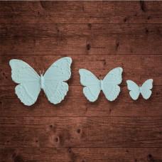 "Набор из 3-х бабочек, ""Бабочка 3"" (M,S,XS), Размер 50x38x2 мм."