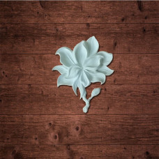 """""""Цветок Магнолии 2"""" (L), Размер 126x150x12 мм."""