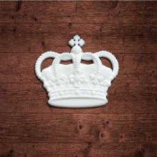 "Декор из пластика,  ""Корона 2"" малая, Размер 31х21мм"