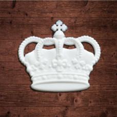 """Декор из пластика,  """"Корона 2"""" большая, Размер 51х44мм"""