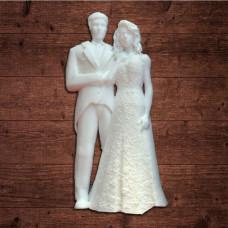"""Декор из пластика, """"Свадебная пара"""" большая, размер 35х70 мм"""