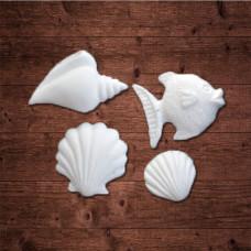 """""""Три морских раковины и рыба"""""""