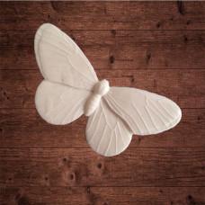 "декор из пластика, ""Бабочка капустница"" большая, Размер 6,8х3,5 см"