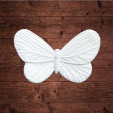 "декор из пластика, ""Бабочка капустница"" малая, Размер 3,8х2,3 см"