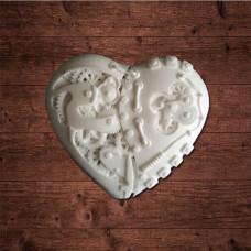 декор из пластика, Механическое сердце 6х6см