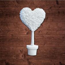 "декор из пластика, ""Топиари - сердце"", Размер 2,8х5 см"