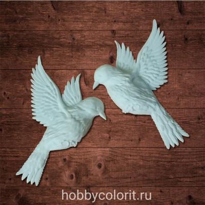 Набор из двух птиц - Голуби, Размер 7х5,6х0,9см