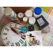 Мастер-класс Часы настенные «Оливковая композиция»